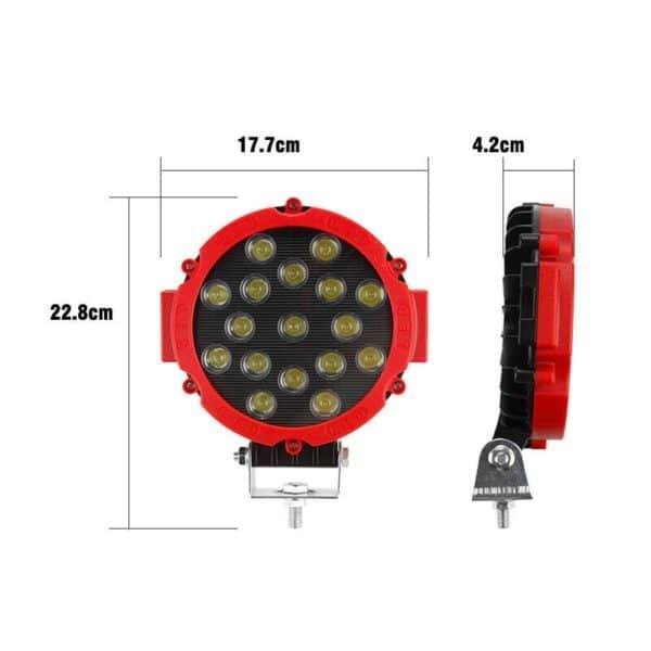 LED reflektor 51w kulatý černý