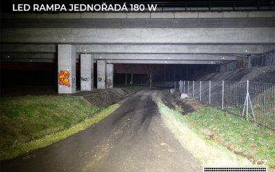 test led rampa jednořadá 180w