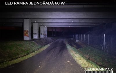 test led rampa jednořadá 60w